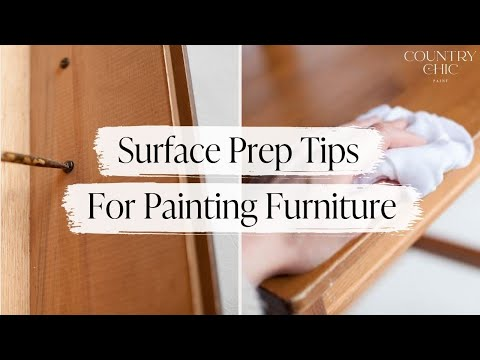 How To Prep Furniture Before Painting   Cleaning and Sanding Tips   Country Chic Paint