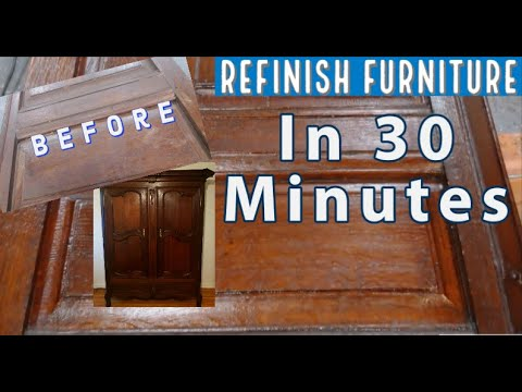 Refinish Wood Furniture Without Stripping In Less Than An Hour !